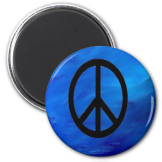 地球の青の背景のピースサインの磁石 マグネット