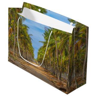 地球の項目道ポルトGalinhasブラジル ラージペーパーバッグ
