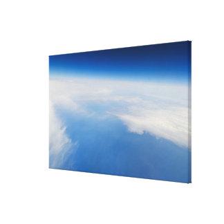 地球の高度の写真 キャンバスプリント