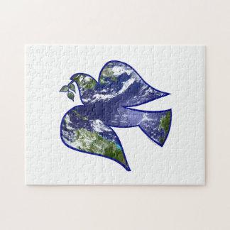 地球の鳩の平和 ジグソーパズル