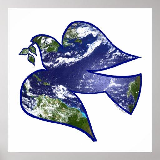 地球の鳩の平和 ポスター     地球の鳩の平和 ポスター