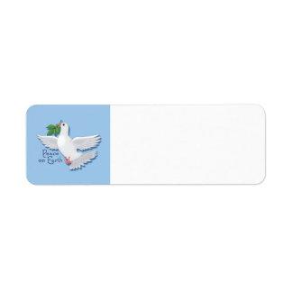 地球の鳩のAveryのラベルの平和 ラベル
