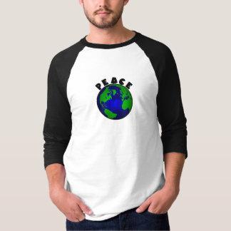 地球の~のraglanのティーの~のより小さいdesign=の平和) tシャツ