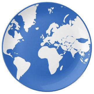 地球の/27.3 cmの装飾的な磁器皿 磁器プレート