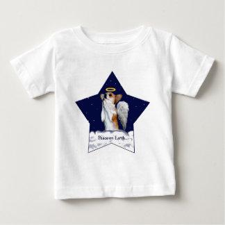地球のDottの天使の平和 ベビーTシャツ