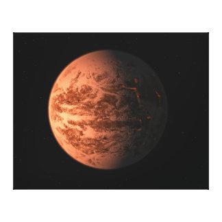 地球のGliese極度の876 Dの地球型惑星 キャンバスプリント