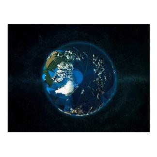 地球のLowPolyの北極 ポストカード