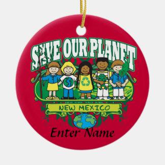地球はニューメキシコをからかいます セラミックオーナメント
