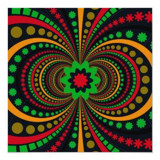地球はファンキーなパターン花に縞で飾りますある調子を与えます カード