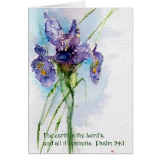 地球は主の24:1   ですPsalmの カード