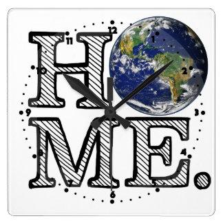 地球は家の博物学者の家のウォーマーです ウォールクロック