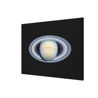 地球への広角のリングや輪が付いている土星 キャンバスプリント