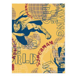 地球を持つスーパーマン ポストカード