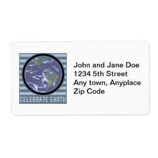 地球を祝って下さい ラベル
