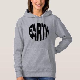 地球を長くすべての冬愛して下さい! パーカ