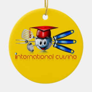 地球インターナショナルの料理 セラミックオーナメント