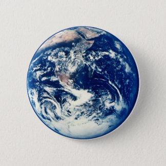地球ボタン 5.7CM 丸型バッジ