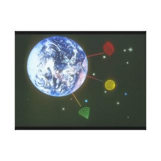 地球上の形。 (earth_Space場面 キャンバスプリント