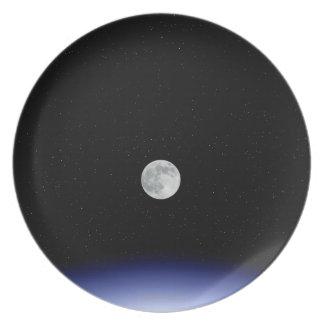 地球上の月の上昇 プレート