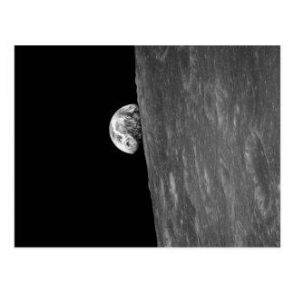 """""""地球上昇""""、宇宙からのこれの最初写真 ポストカード"""