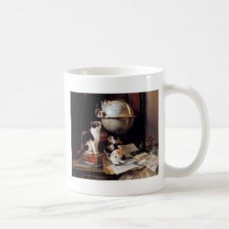 地球儀で遊ぶ子猫 コーヒーマグ