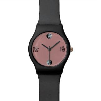 地球及び空の陰陽の漢字 腕時計