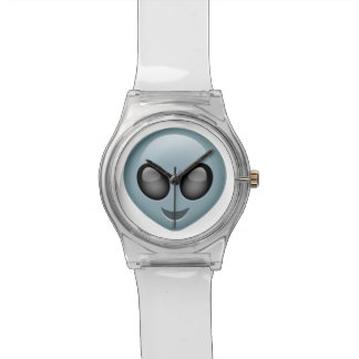 地球大気圏外の外国のEmoji 腕時計