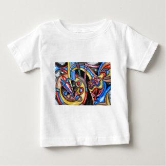 地球大気圏外ジャズ-抽象美術 ベビーTシャツ