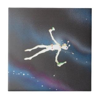 地球大気圏外UFOのデザインの写真 タイル