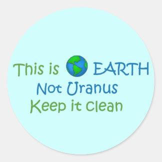 地球天王星 ラウンドシール