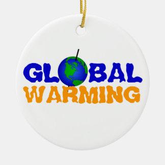 地球温暖化のオーナメント セラミックオーナメント