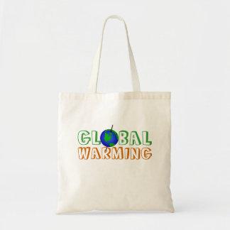 地球温暖化のバッグ トートバッグ