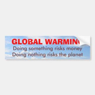 地球温暖化のバンパーステッカーの危険 バンパーステッカー
