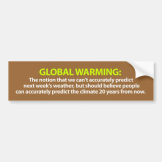 地球温暖化のバンパーステッカー バンパーステッカー