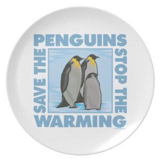 地球温暖化のペンギン プレート