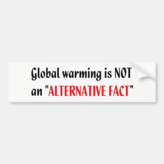 地球温暖化の代わりとならない事実のバンパーステッカー バンパーステッカー