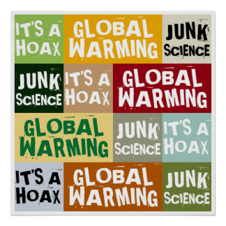 地球温暖化の悪ふざけ ポスター