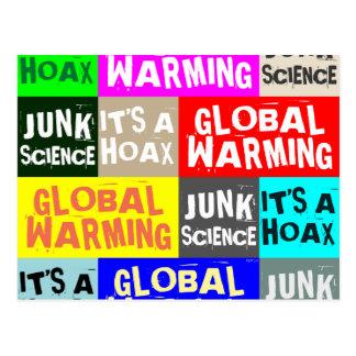地球温暖化の悪ふざけ ポストカード