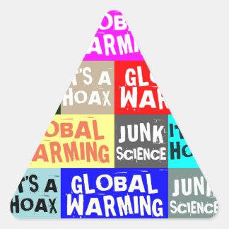 地球温暖化の悪ふざけ 三角形シール