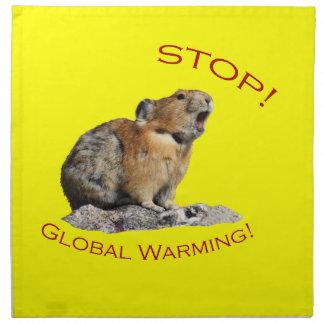 地球温暖化 ナプキンクロス