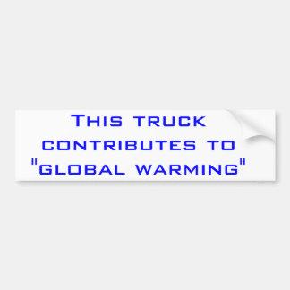 地球温暖化 バンパーステッカー