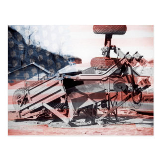 地球移動装置作動エンジニアの旗 ポストカード