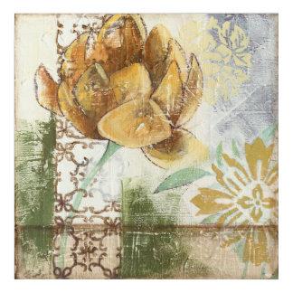 地球花との装飾的なフレスコ画のデザイン アクリルウォールアート