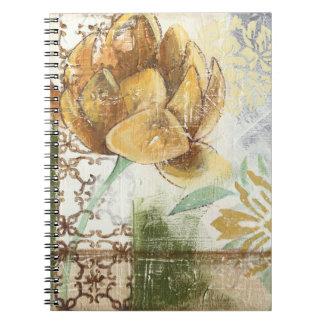 地球花との装飾的なフレスコ画のデザイン ノートブック