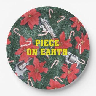 地球銃のクリスマスの部分 ペーパープレート