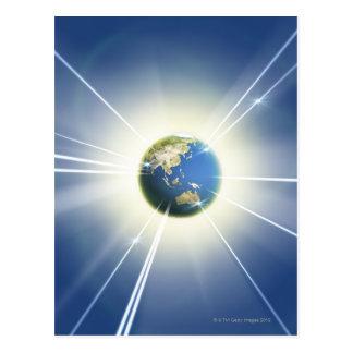 地球2からの光ビーム ポストカード