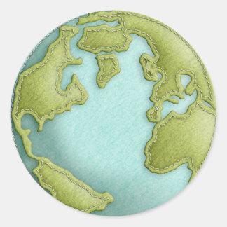 地球3Dによってステッチされるパターンステッカー ラウンドシール