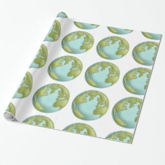 地球3Dによってステッチされるパターン包装紙 ラッピングペーパー