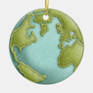 地球3Dはパターンオーナメントをステッチしました セラミックオーナメント