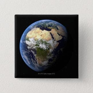 地球8 5.1CM 正方形バッジ